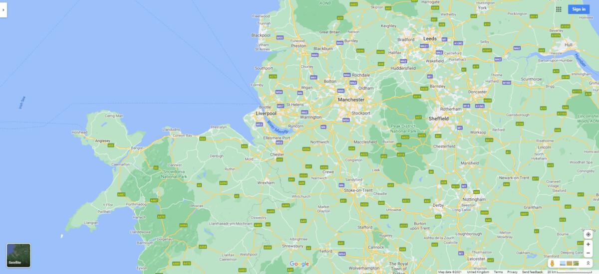 Northwest UK Map 1